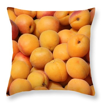 Apricots Throw Pillow by Carol Groenen