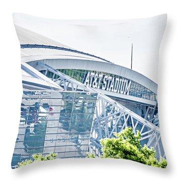 April 2017 Arlington Texas Att Nfl Cowboys Football Stadium  Throw Pillow