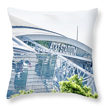 April 2017 Arlington Texas Att Nfl Cowboys Football Stadium  Throw Pillow