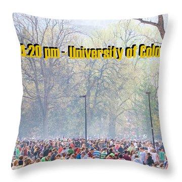 April 20th - University Of Colorado Boulder Throw Pillow