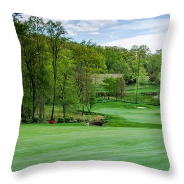 April Approach Throw Pillow