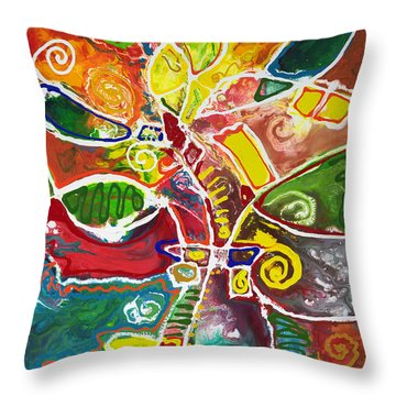 April Bouquet Throw Pillow