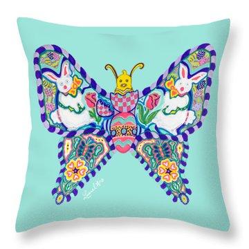 April Butterfly Throw Pillow