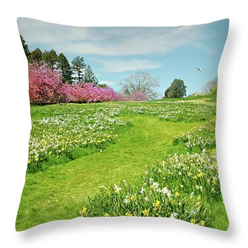 Throw Pillow featuring the photograph April Days by Diana Angstadt