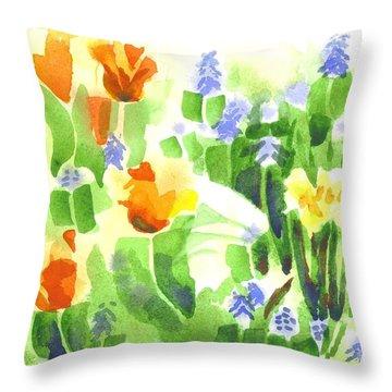 April Flowers 2 Throw Pillow by Kip DeVore