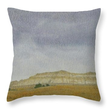 April In The Badlands Throw Pillow