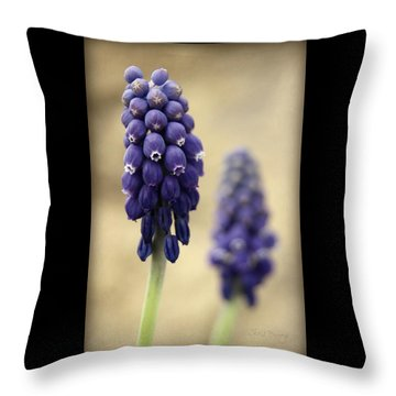 Throw Pillow featuring the photograph April Indigo by Chris Berry