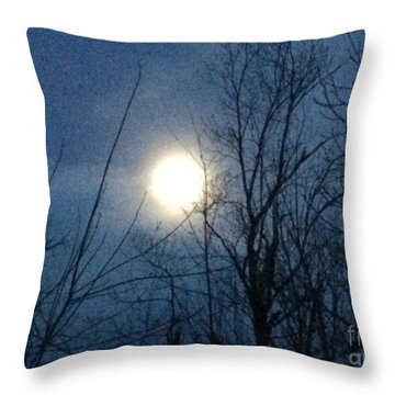 April Moonlight Throw Pillow
