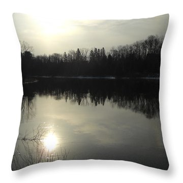 April Morning Sun Reflection Throw Pillow by Kent Lorentzen