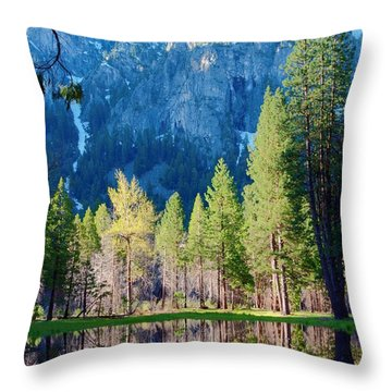 April Reflection Throw Pillow by Loriannah Hespe
