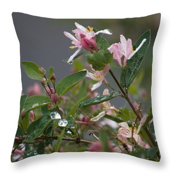 April Showers 7 Throw Pillow by Antonio Romero