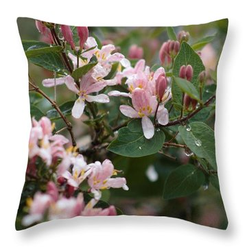 April Showers 8 Throw Pillow by Antonio Romero