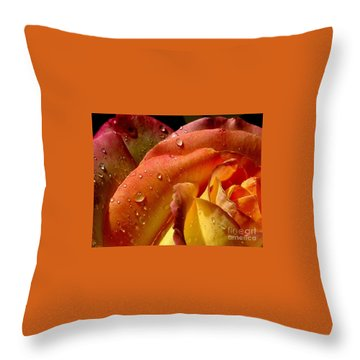 Throw Pillow featuring the photograph April Showers by Marie Neder