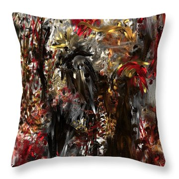 Throw Pillow featuring the digital art April Skull by Reed Novotny