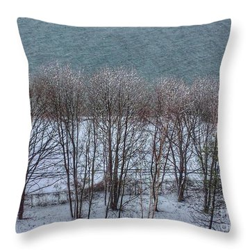 April Snow On Portland Trails Throw Pillow