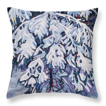 April Snow Throw Pillow