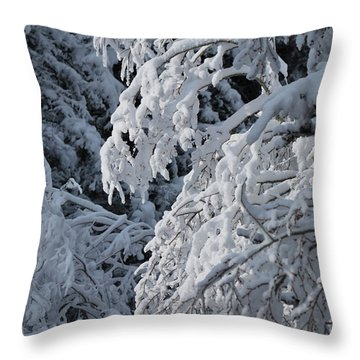 April Snow Throw Pillow