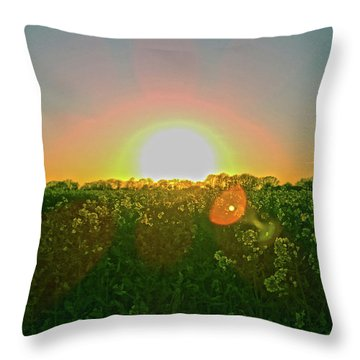 Throw Pillow featuring the photograph April Sunrise by Anne Kotan