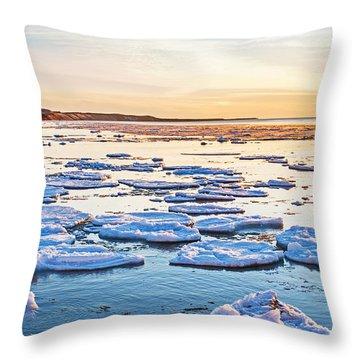 April Sunset Throw Pillow
