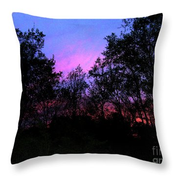 April Sunset Throw Pillow