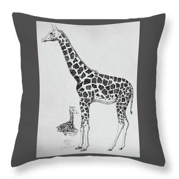 April The Giraffe Throw Pillow