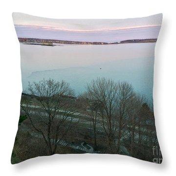 April Twilight On Casco Bay Throw Pillow