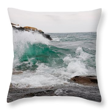 April Waves On Superior Throw Pillow by Sandra Updyke