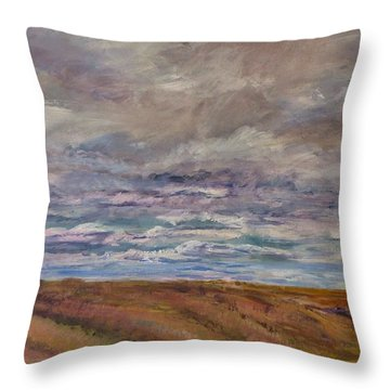 April Wind Throw Pillow