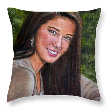 April's Love Throw Pillow