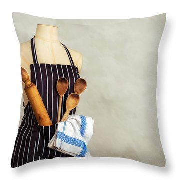 Apron And Baking Utensils Throw Pillow