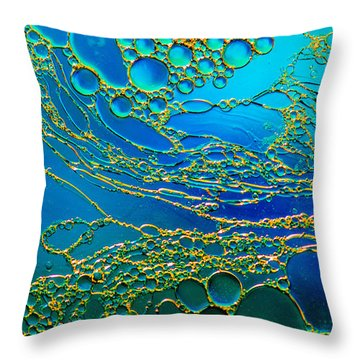 Aqua Abstraction Throw Pillow by Bruce Pritchett