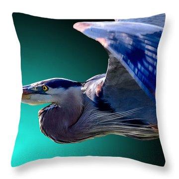 Aqua Ascent Throw Pillow