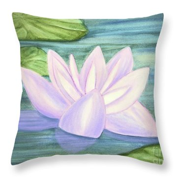 Aqua Bloom Throw Pillow