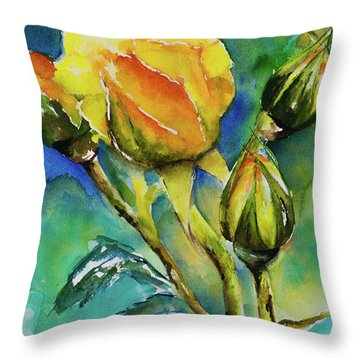 Aqua Essai Throw Pillow