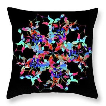 Aqua Extreme Mandala Throw Pillow