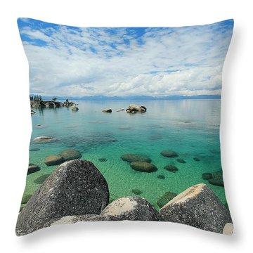 Aqua Heaven Throw Pillow