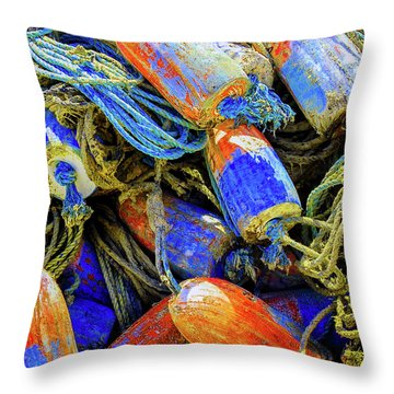 Aqua Hedionda Throw Pillow