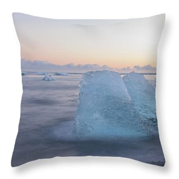 Aqua Ice Throw Pillow