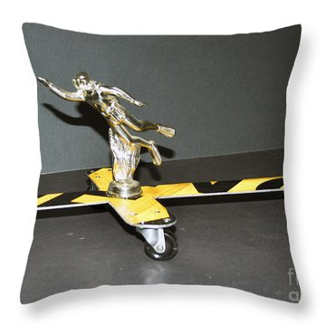 Throw Pillow featuring the sculpture Aqua Man by Bill Thomson