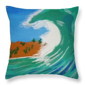 Aqua Passions Throw Pillow