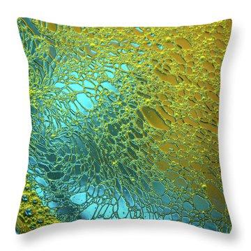 Aqua Pearls Throw Pillow