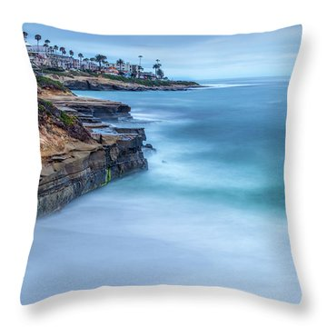 Aqua Throw Pillow by Peter Tellone
