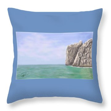 Aqua Sea Throw Pillow