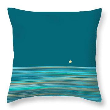 Throw Pillow featuring the digital art Aqua Sea by Val Arie