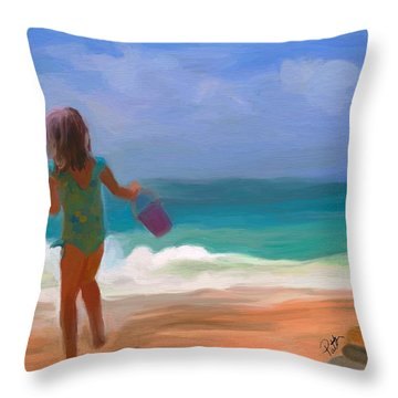 Aqua Seas Throw Pillow by Patti Siehien