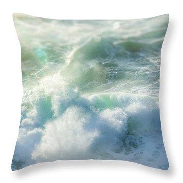 Aqua Surge Throw Pillow