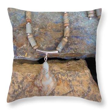 Aqua Terra Jasper #s51 Throw Pillow by Barbara Prestridge