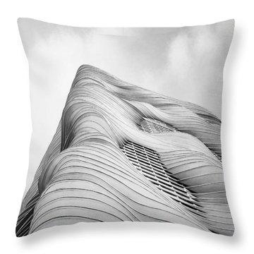 Aqua Tower Throw Pillow