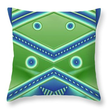 Throw Pillow featuring the digital art Aquamarine by Ron Bissett