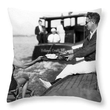 Aquaplane Record Attempt Throw Pillow
